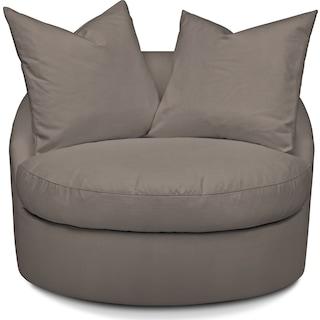 Plush Swivel Chair - Oakley III Granite