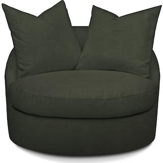 Plush Swivel Chair - Toscana Olive