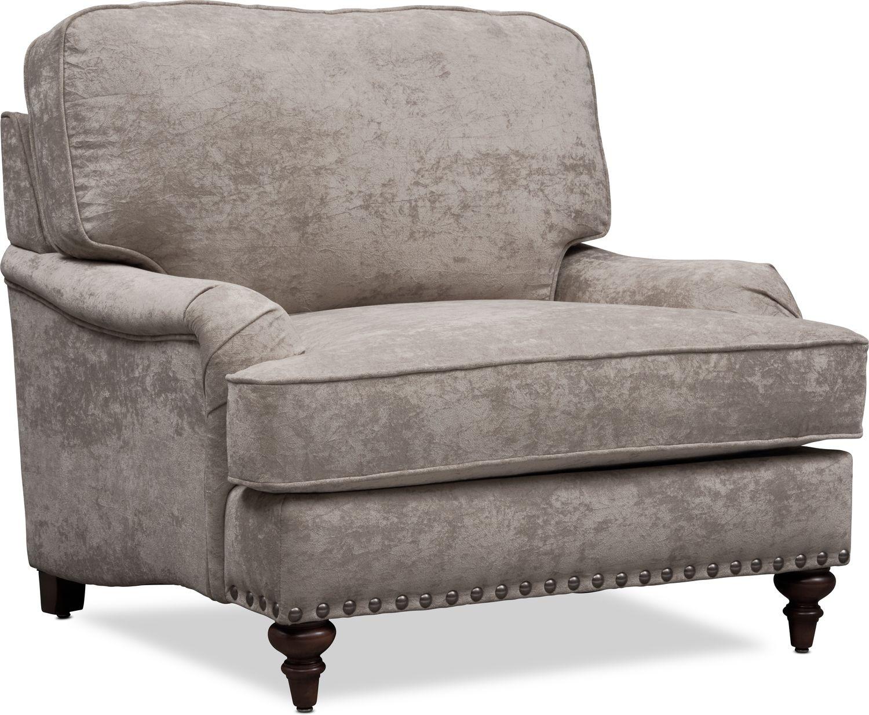 Living Room Furniture - London Chair - Gray