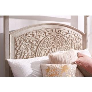 Florence Queen Bed - Antique Linen