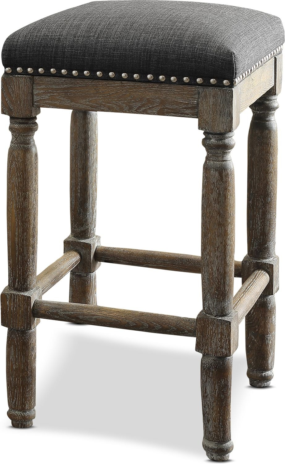 Accent and Occasional Furniture - Alexandria 2-Piece Stool Set - Gray