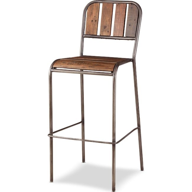 Dining Room Furniture - Atwood Bar Stool - Brown
