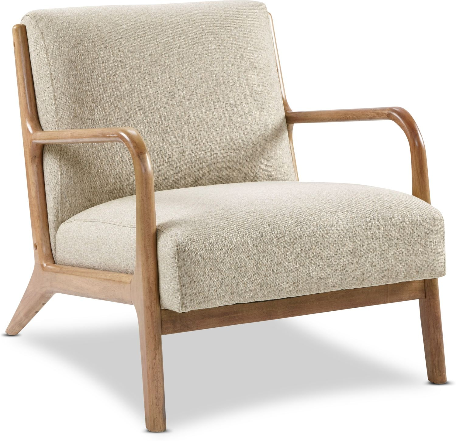 Accent and Occasional Furniture - Finn Accent Chair - Cream