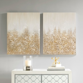 Gold Glimmer 2-Piece Canvas Wall Art