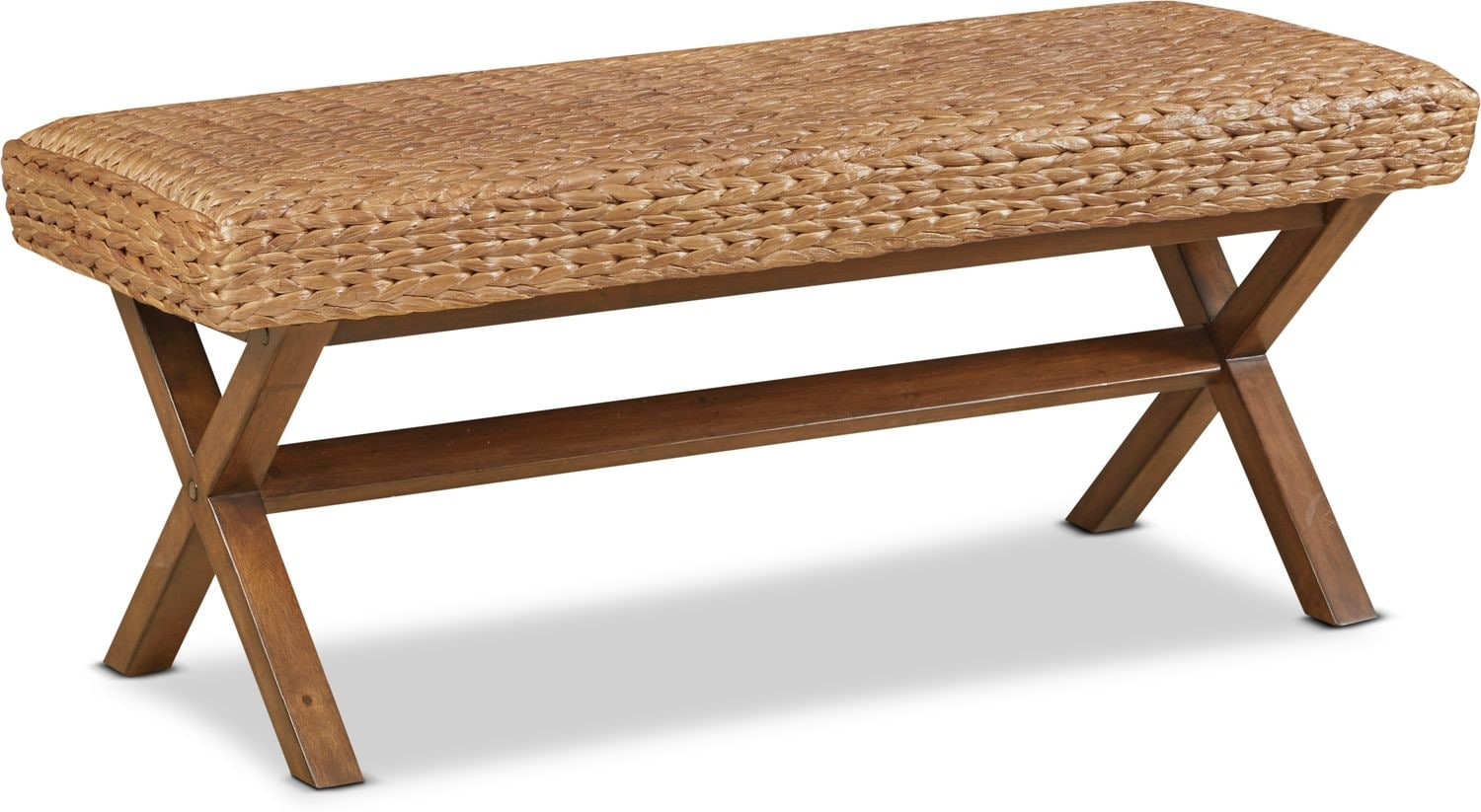 Accent and Occasional Furniture - Harbor Wicker Bench