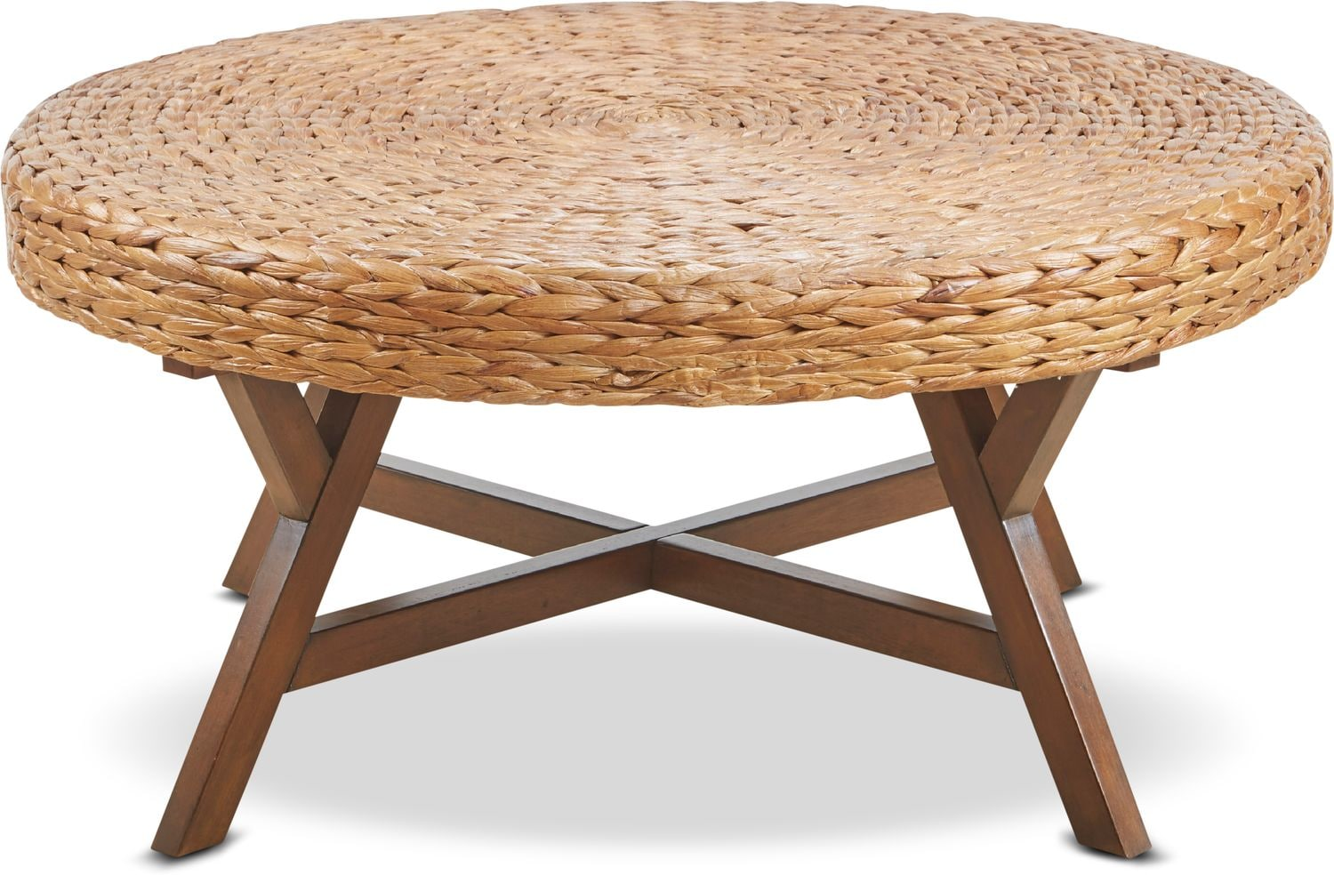 Accent and Occasional Furniture - Harbor Wicker Coffee Table - Brown