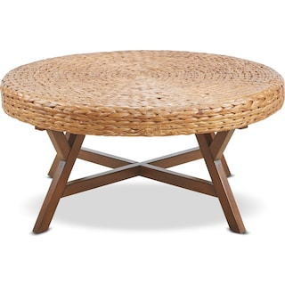 Harbor Wicker Coffee Table - Brown