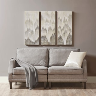 Sterling 3-Piece Canvas Wall Art - Gray
