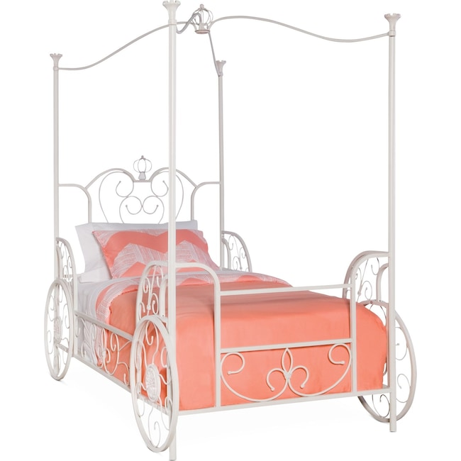 Kids Furniture - Princess Twin Carriage Canopy Bed