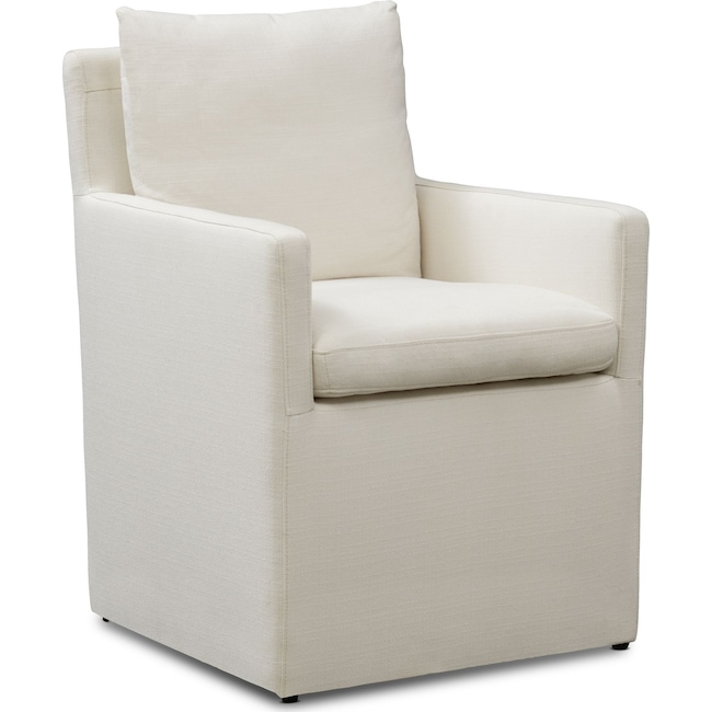 Dining Room Furniture - Plush Arm Chair - Ivory