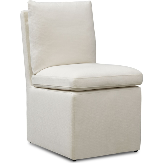 Dining Room Furniture - Plush Side Chair - Ivory