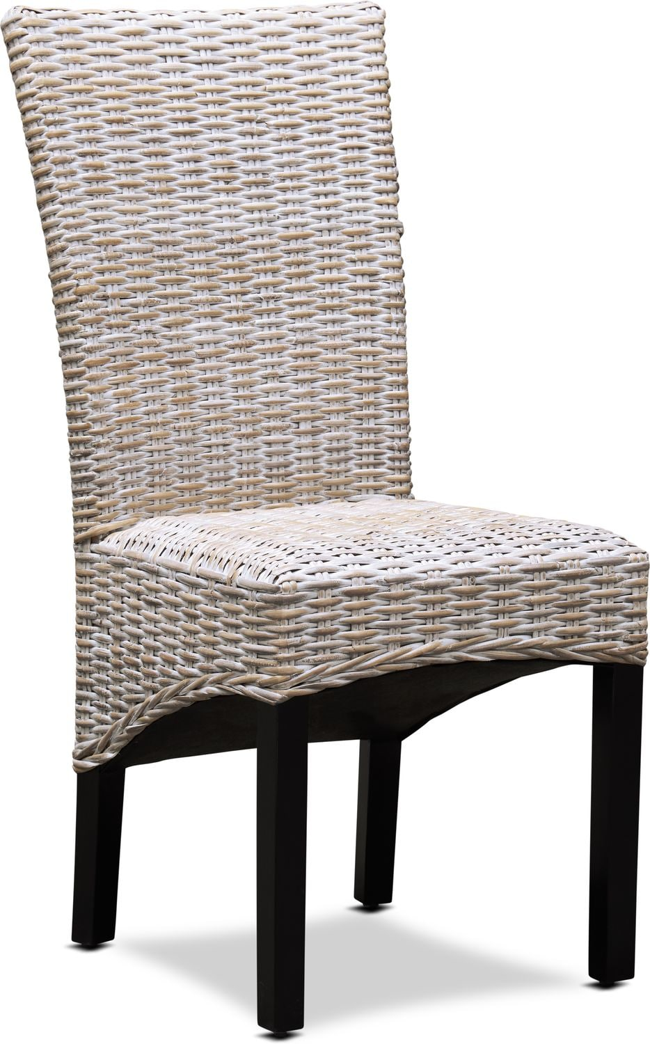 Raleigh Woven Side Chair White American Signature Furniture