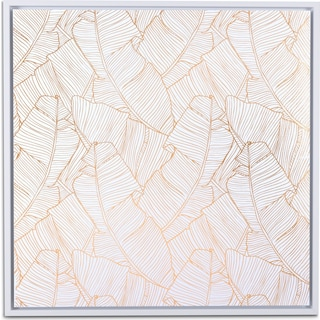 Palm Canvas Wall Art - Gold