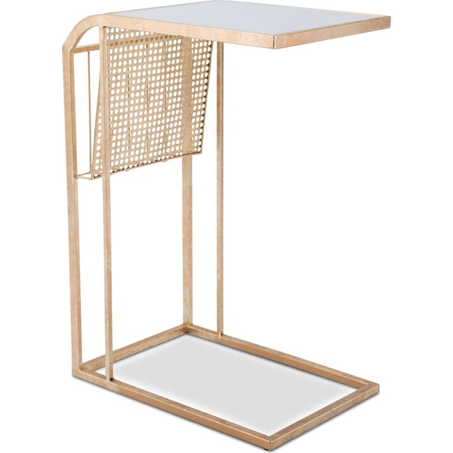 Accent and Occasional Furniture - Ava Magazine Table - Gold