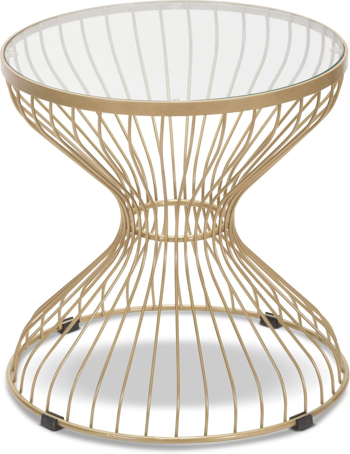 Accent and Occasional Furniture - Rose Side Table - Gold