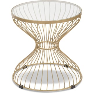 Rose Side Table - Gold