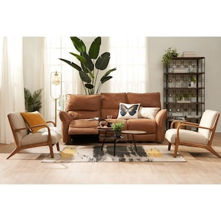 Aspen Dual Power Sofa - Tan