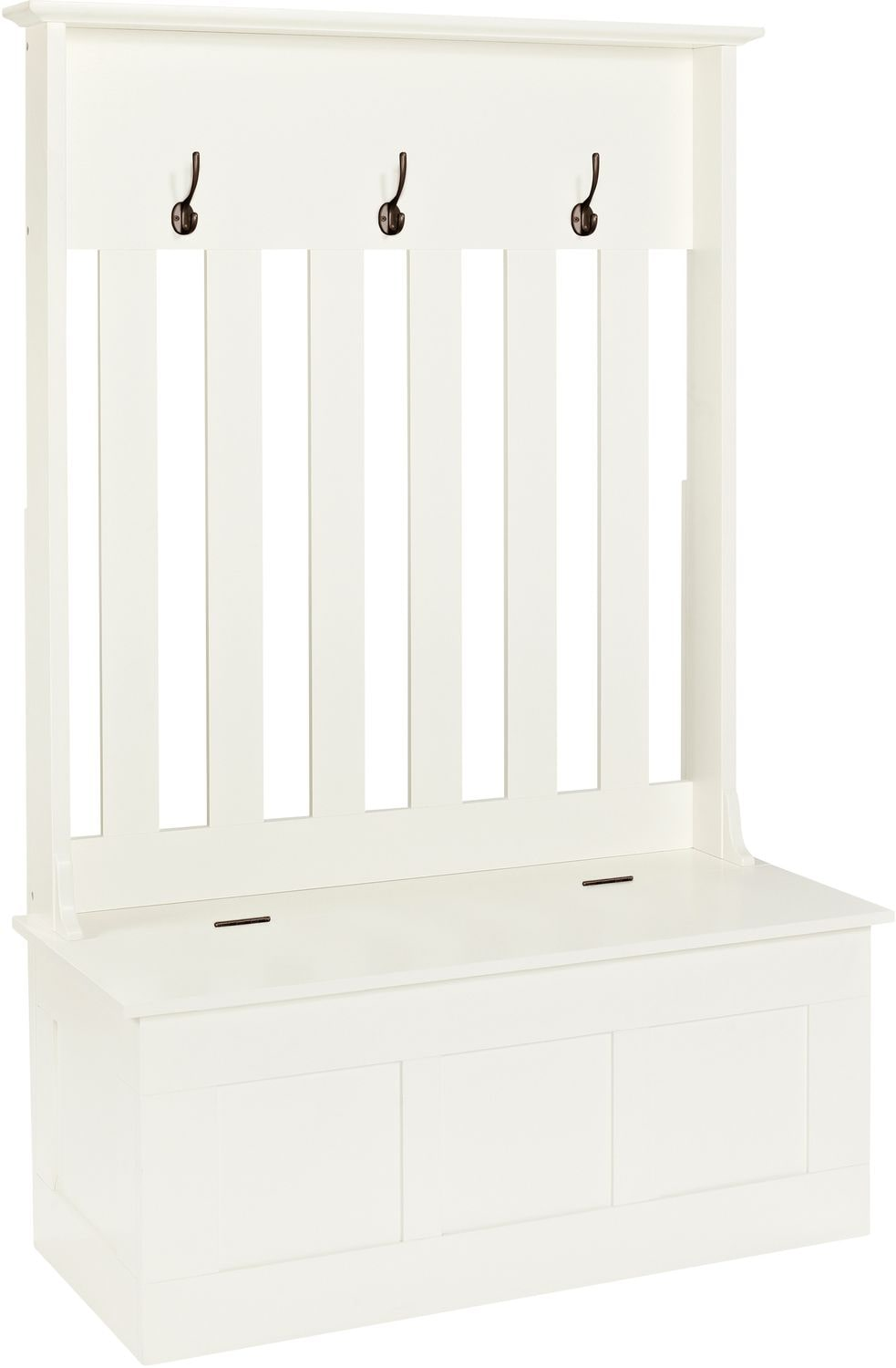 Accent and Occasional Furniture - Rimini Hall Tree - White