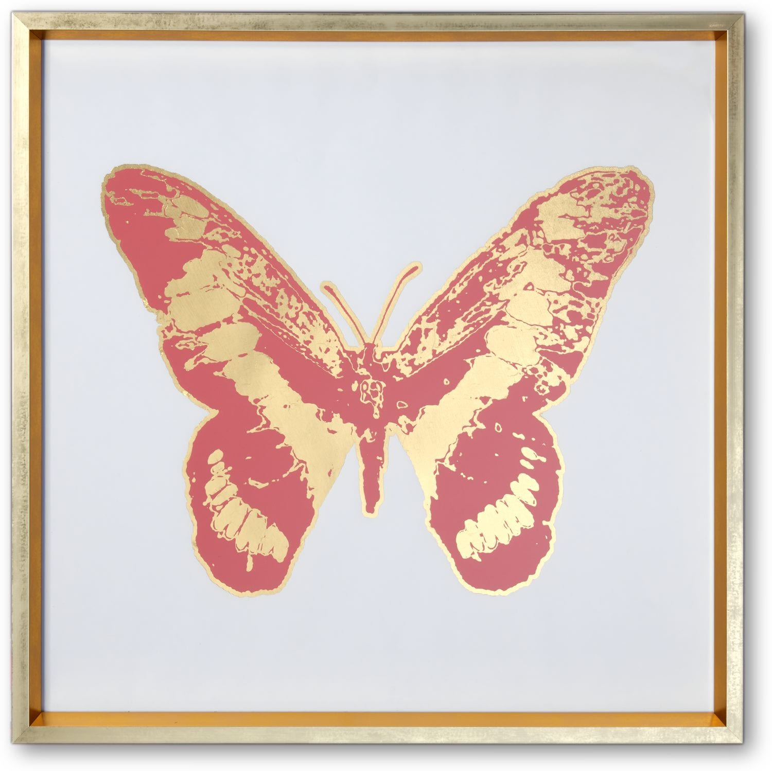 Home Accessories - Butterfly Wall Art - Pink/Gold