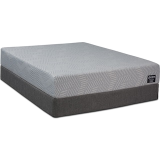 Dream–In–A–Box Ultra Firm Full Mattress and Low-Profile Foundation