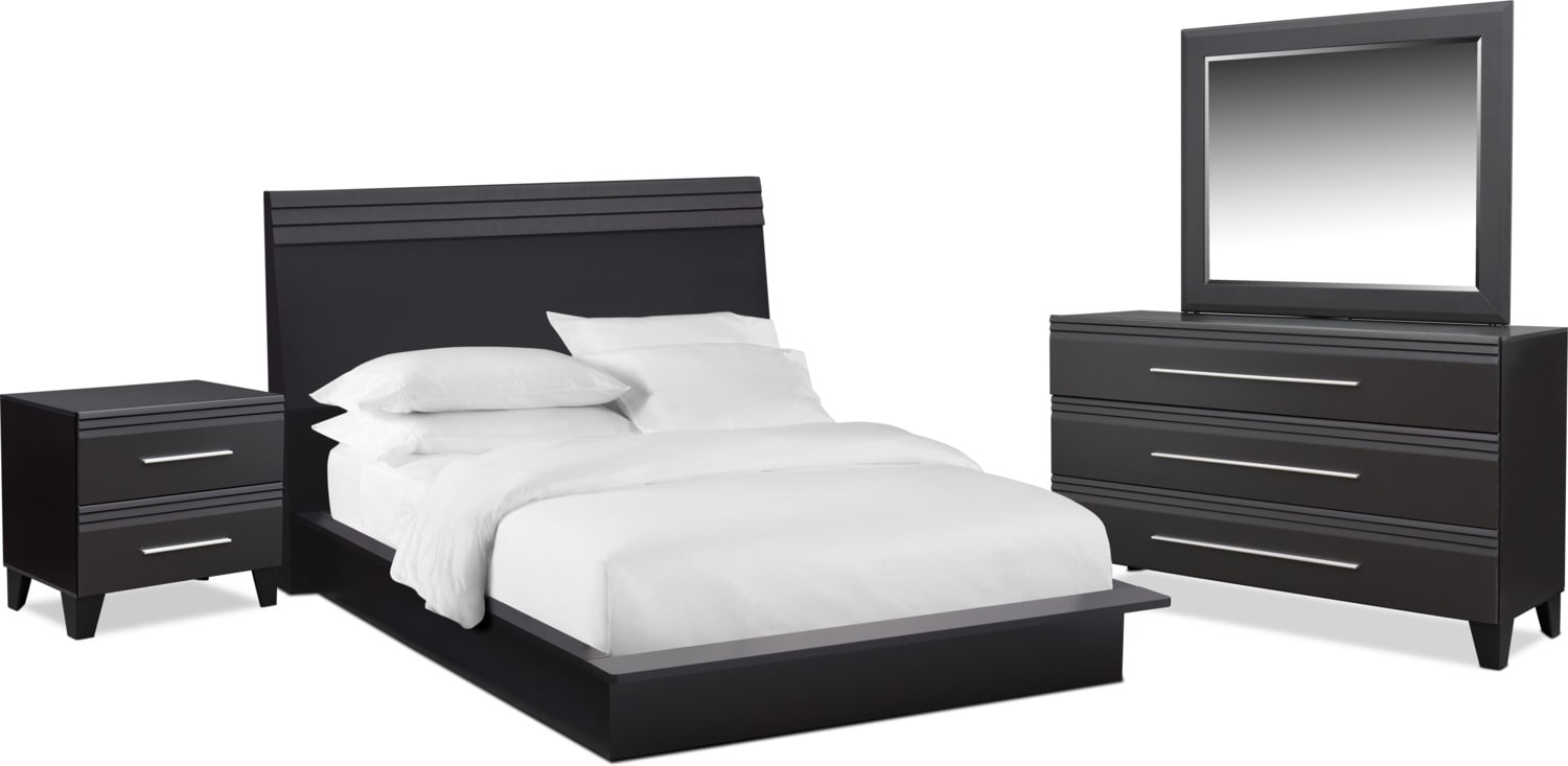 Bedroom Furniture - Allori 6-Piece Panel Bedroom Set