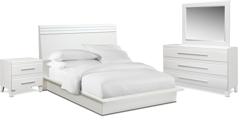 Bedroom Furniture - Allori 6-Piece Panel Bedroom Set