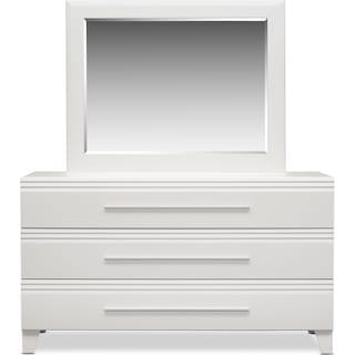 Allori Dresser and Mirror - White