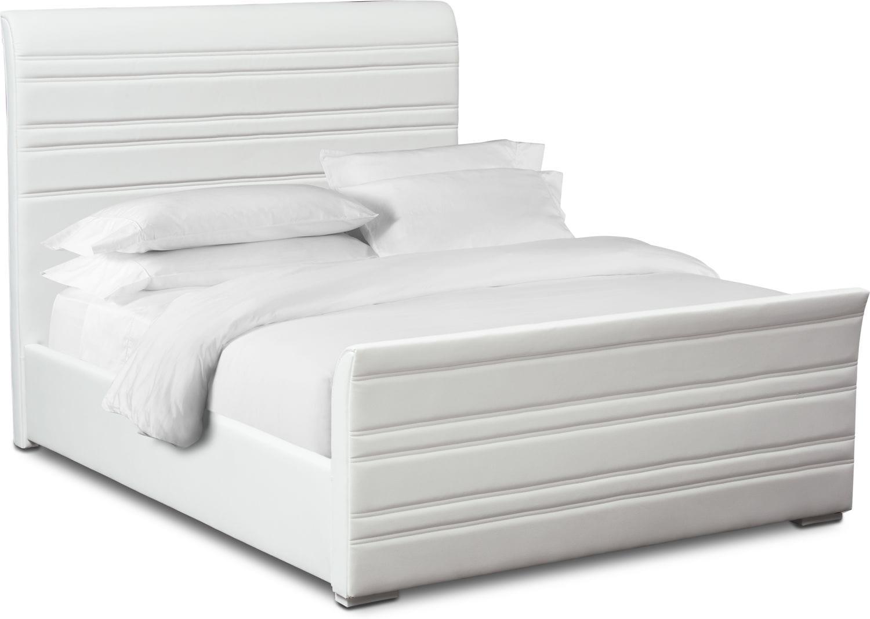 Bedroom Furniture - Allori King Upholstered Bed - White