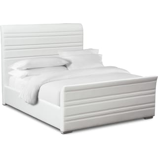 Allori Queen Upholstered Bed - White