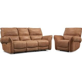 Aspen 2-Piece Sofa and Recliner