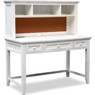 Sidney Desk and Hutch - White