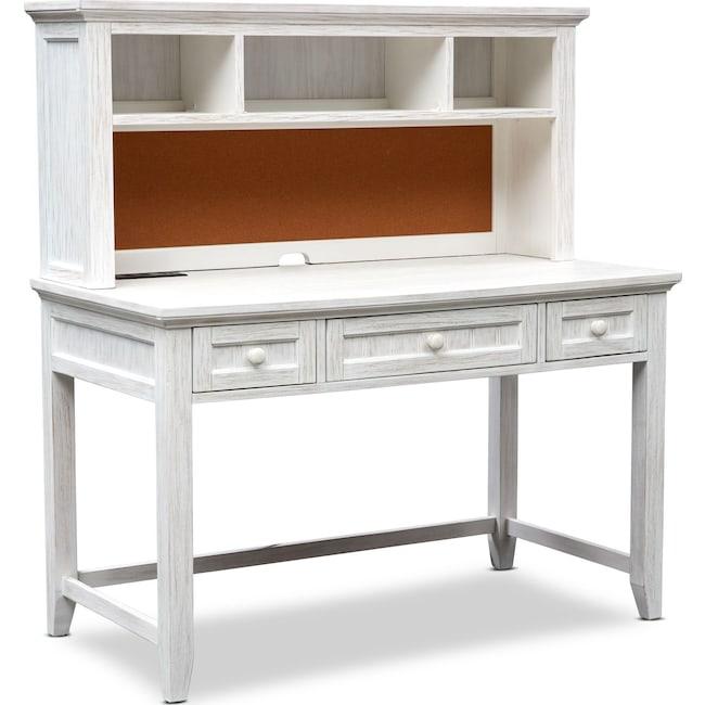 Kids Furniture - Sidney Desk and Hutch - White