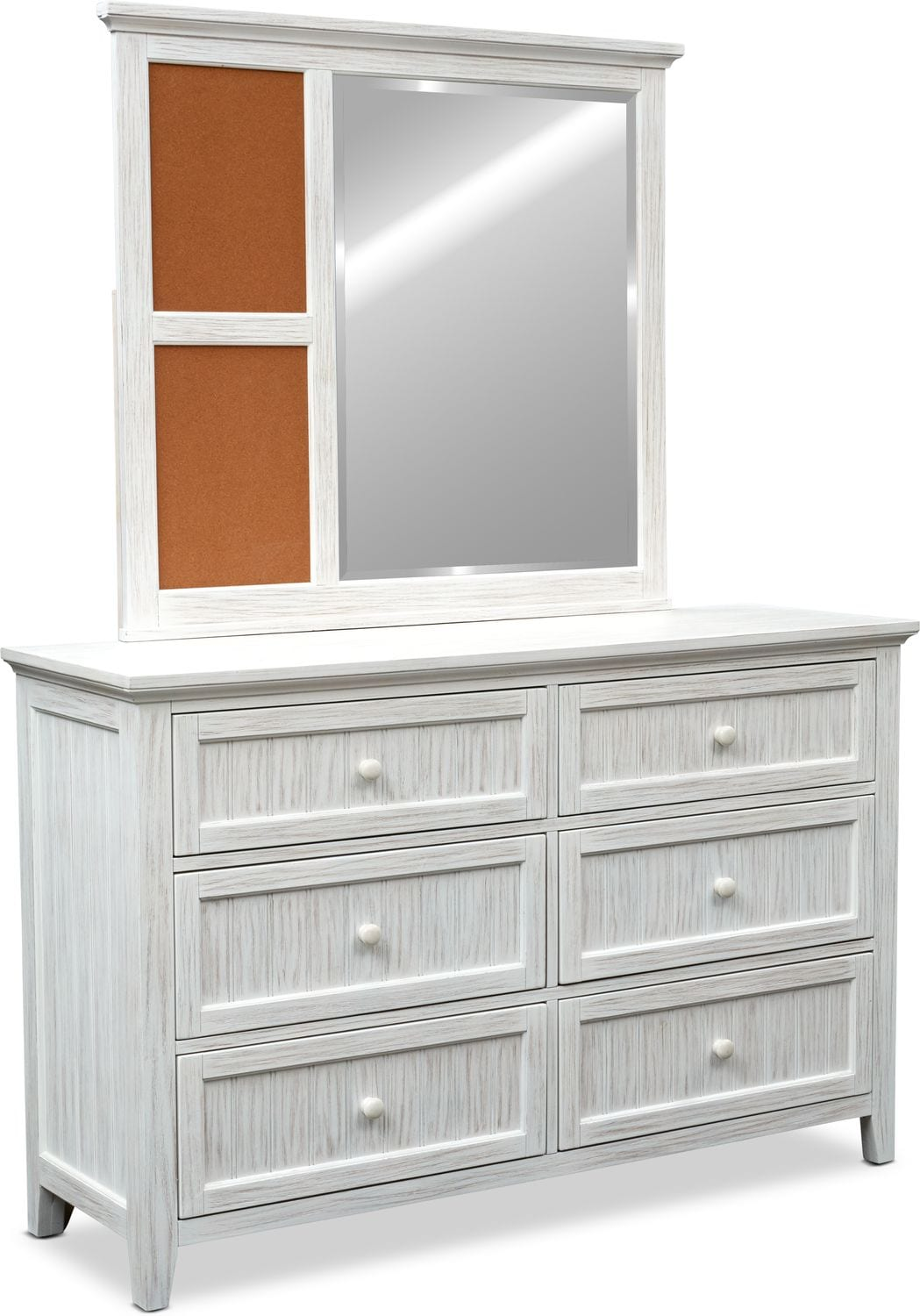 Kids Furniture - Sidney Dresser and Mirror - White