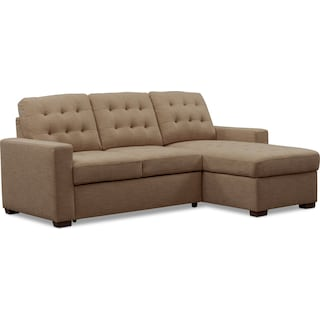 Chatman 2-Piece Sleeper Sectional with Right-Facing Chaise - Beige