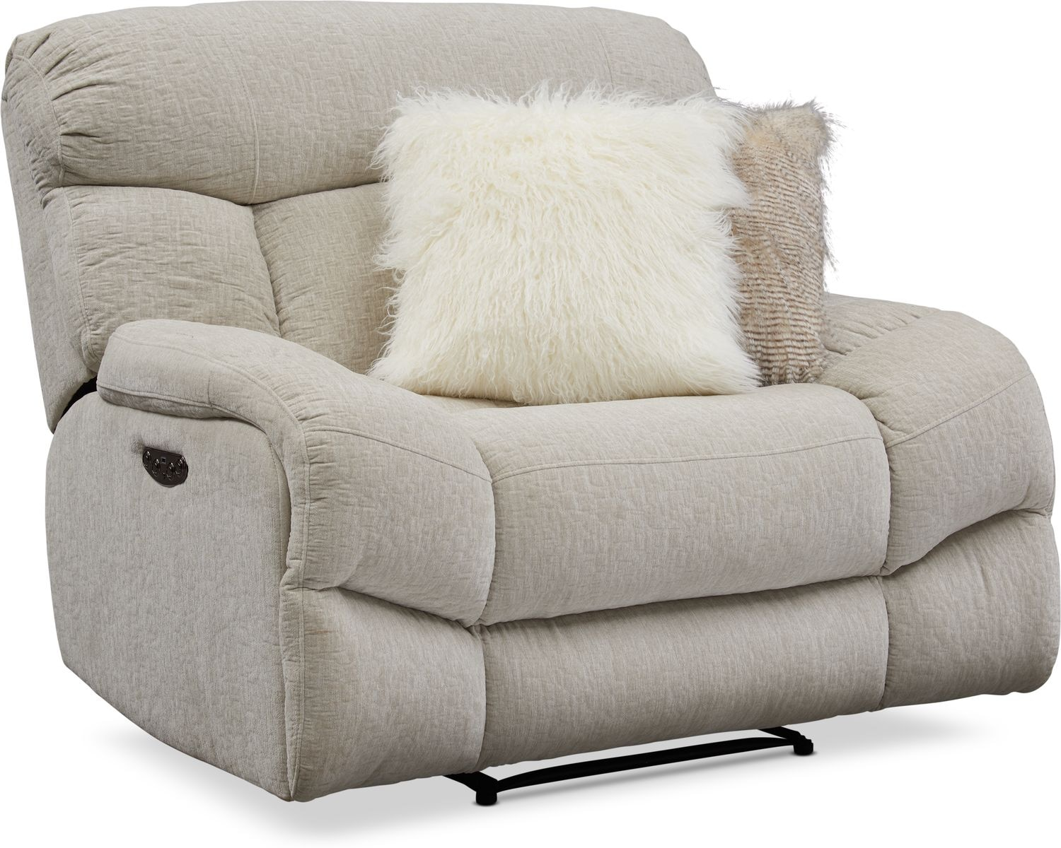Living Room Furniture - Wave Dual-Power Recliner