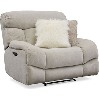 Wave Dual-Power Recliner - Ivory