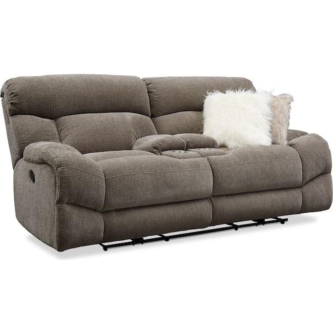 Living Room Furniture - Wave Manual Reclining Loveseat