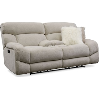 Wave Manual Reclining Loveseat - Ivory