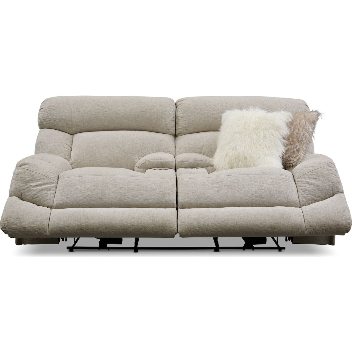 Wave Manual Reclining Loveseat American Signature Furniture