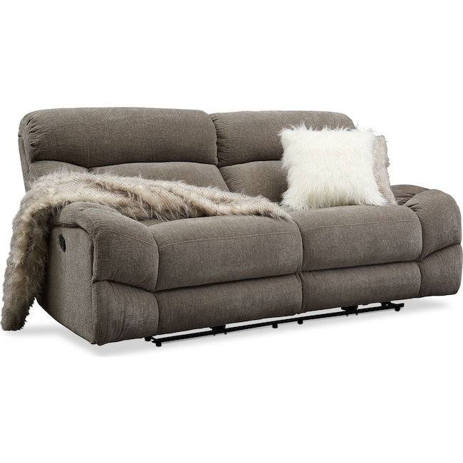 Living Room Furniture - Wave Manual Reclining Sofa