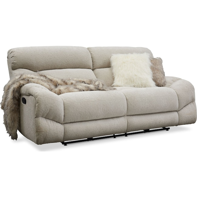 Living Room Furniture - Wave Manual Reclining Sofa