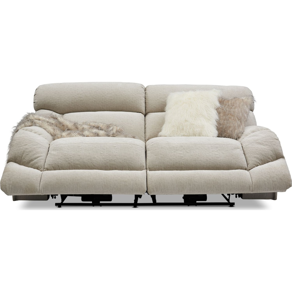 Wave Manual Reclining Sofa American Signature Furniture