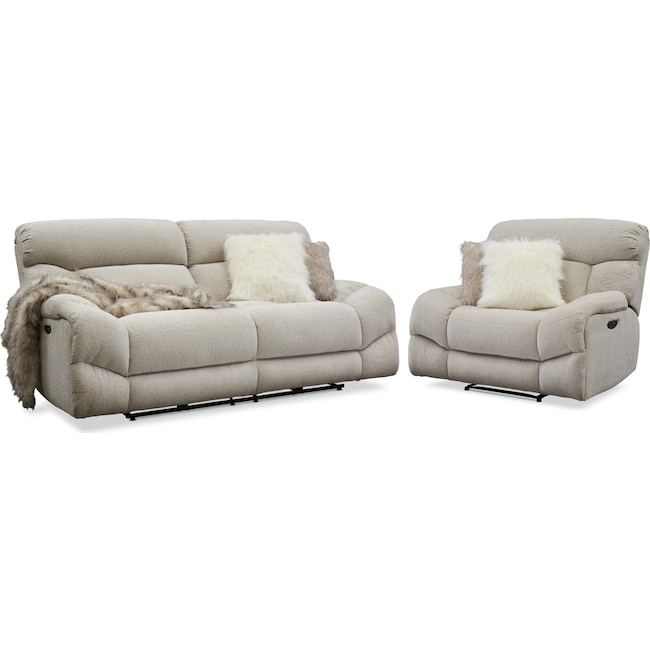 Wave Dual Reclining Sofa And