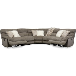 Wave 5-Piece Manual Reclining Sectional with 2 Reclining Seats