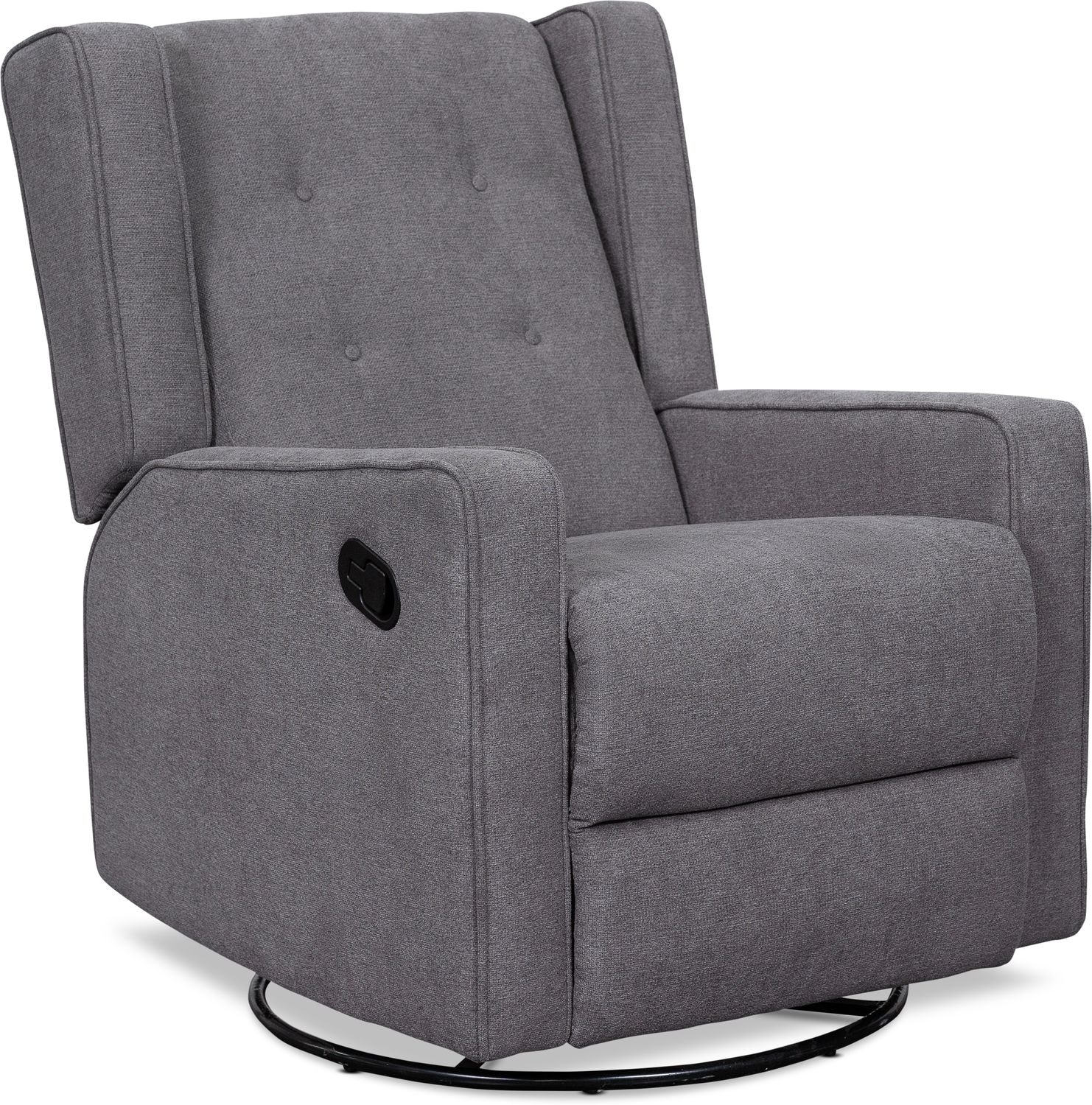 Living Room Furniture - Adeline Manual Reclining Swivel Chair