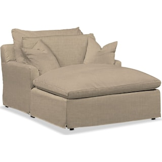 Plush Chaise - Millford II Toast