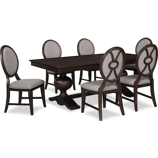 Wilder Rectangular Dining Table and 6 Upholstered Chairs
