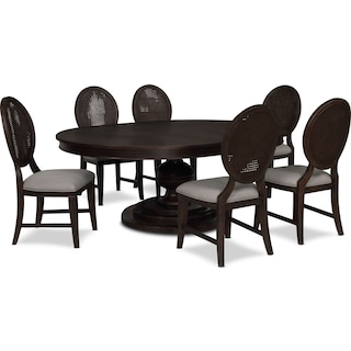 Wilder Round Dining Table and 6 Side Chairs