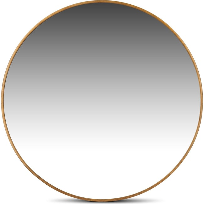 Home Accessories - Large Round Mirror - Gold
