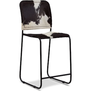 Avalon Cowhide Counter Stool